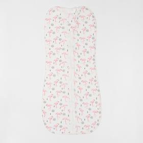Пеленка- кокон А.К-103-04, цвет фламинго, рост 68 см