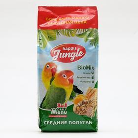 Корм Happy jungle для средних попугаев, 900 г