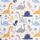 Постельное белье беби LoveLife «Синие динозавры» 112*147 см, 60*120+20 см, 40*60 см - фото 7391271