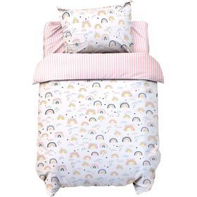 Постельное белье беби LoveLife «Сute rainbow» 112*147 см, 60*120+20 см, 40*60 см