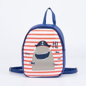Рюкзак детский, отдел на молнии, наружный карман, цвет тёмно-синий