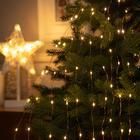 "Гирлянда ""Конский хвост"" 10 нитей по 1 м , IP20, медная нить, 100 LED, свечение тёплое белое, 2 режима, 3 х AA - фото 7406648"