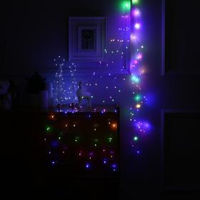 "Гирлянда ""Конский хвост"" 10 нитей по 1.5 м , IP20, прозрачная нить, 150 LED, свечение мульти, фиксинг, 12 В - фото 7406725"
