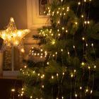 """Гирлянда """"Конский хвост"""" 20 нитей по 2 м , IP20, медная нить, 400 LED, свечение тёплое белое, фиксинг, 12 В - фото 7406811"""