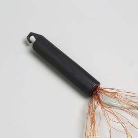 """Гирлянда """"Конский хвост"""" 20 нитей по 2 м , IP20, медная нить, 400 LED, свечение тёплое белое, фиксинг, 12 В - фото 7406815"""