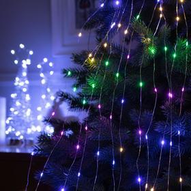 """Гирлянда """"Дреды"""" 1.5 м , IP20, прозрачная нить, 125 LED, свечение мульти, фиксинг, 12 В - фото 7406819"""