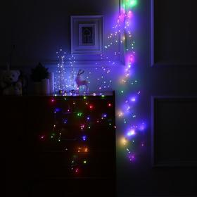 """Гирлянда """"Дреды"""" 1.5 м , IP20, прозрачная нить, 125 LED, свечение мульти, фиксинг, 12 В - фото 7406821"""