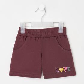 Шорты для девочки, цвет коричневый, рост 116 см