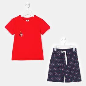 Комплект для мальчика, цвет красный/синий, рост 110 см