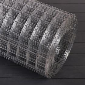 Сетка оцинкованная сварная 1 х 25 м, ячейка 50 х 50 мм, d=1,2 мм, металл