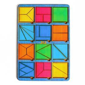 Головоломка «Сложи квадрат» Б.П. Никитин, 12 квадратов 1-й уровень