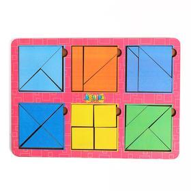 Головоломка «Сложи квадрат» Б.П. Никитин, 6 квадратов 2-й уровень