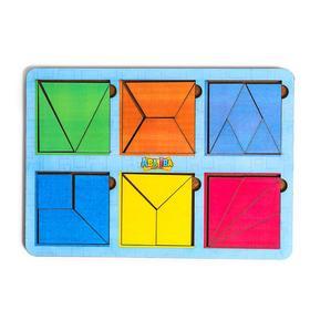 Головоломка «Сложи квадрат» Б.П. Никитин, 6 квадратов 3-й уровень