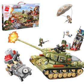 Конструктор Военная зона «Танк» 858 деталей