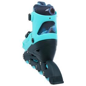 Набор Ролики раздвижные+защита, размер 30-33, колеса PVC 64 мм, пластиковая рама - фото 7407325