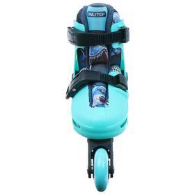 Набор Ролики раздвижные+защита, размер 30-33, колеса PVC 64 мм, пластиковая рама - фото 7407326