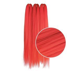 Канекалон однотонный, гофрированный, 72 см, 300 гр, KAMI LIGHT RED SUPERPACK