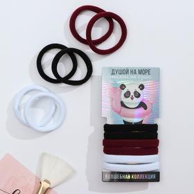 Резинки для волос «Панда», 6 шт., 5,8 х 14 см