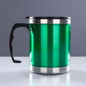 """Термокружка """"Таллер"""", 450 мл, сохраняет тепло 2 ч, 11 х 12 см, зелёный"""