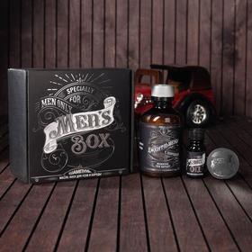 Набор шампунь, масло и воск для усов и бороды Men's box, 14 х 15 см