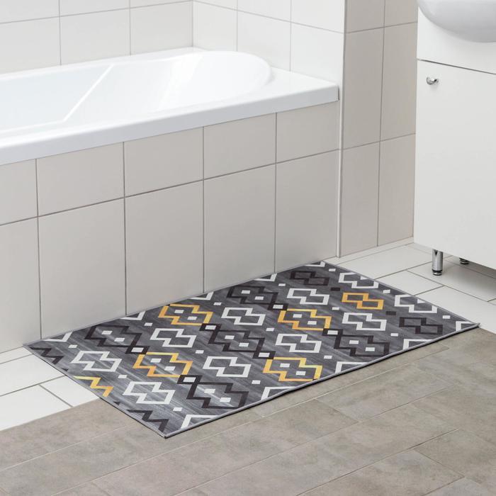 Коврик Доляна «Нео», 60×100 см, цвет серый