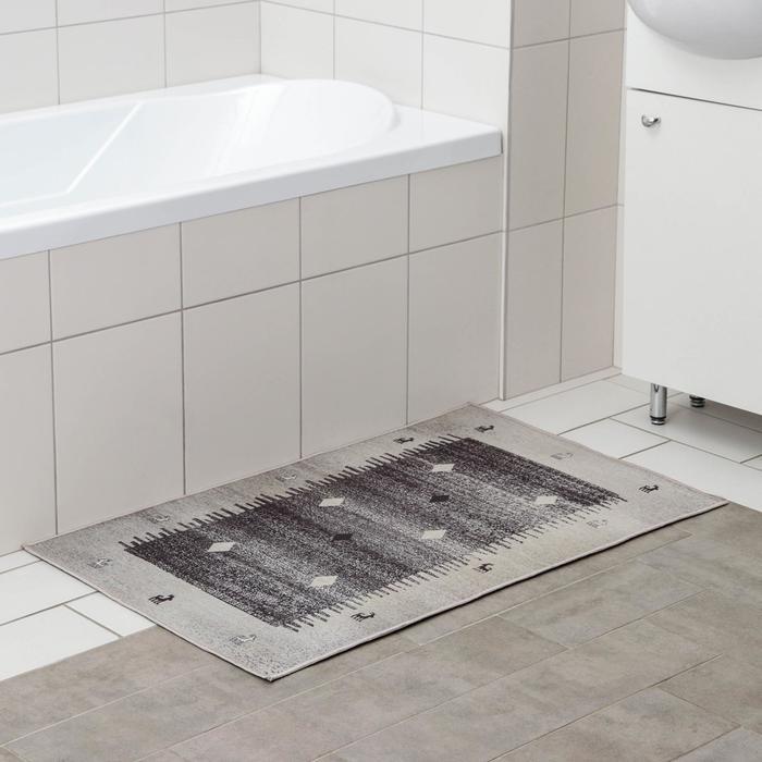 Коврик Доляна «Венги», 60×100 см, цвет серый