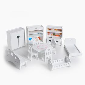 Furniture for dolls (small), 11 items