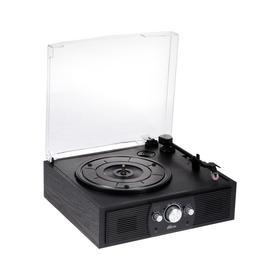 Проигрыватель виниловых дисков Ritmix LP-200B, 10 Вт, 3 скорости, BT, AUX, FM, RCA, черный