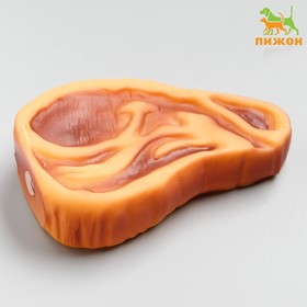 """Toy rubber squeaky """"Steak with blood"""", 10 cm"""