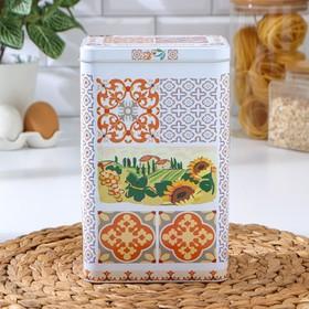 Банка для сыпучих продуктов Рязанская фабрика жестяной упаковки «Итальянский декор», d=9,5 см, h= 21,5 см, V= 2,7 л, МИКС