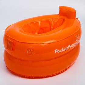 Надувной дорожный горшок PocketPotty. Цвет оранжевый.