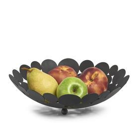 Ваза для фруктов, металл, чёрная, 29×8.5 см
