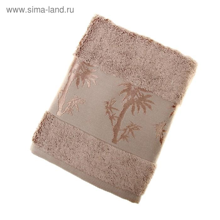 Полотенце махровое Fiesta Bamboo 50*90 см коричневый 500гр/м, бамбук