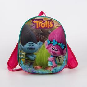 Рюкзак детский, 2 отдела на молниях, цвет розовый, «Тролли»