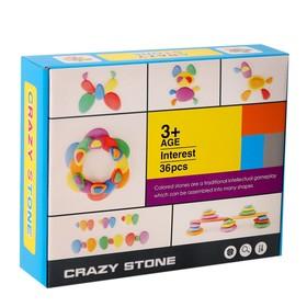 Развивающий набор «Камешки», 24 × 19,5 × 6 см, 36 камешков + книга с заданиями