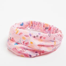 Косынка-повязка, цвет розовый, размер 44-48