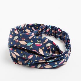 Косынка-повязка, цвет синий, размер 46-50