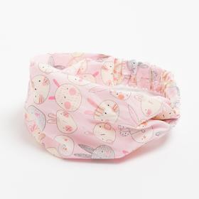 Косынка-повязка, цвет розовый, размер 48-52