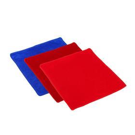 Салфетка для автомобиля Grand Caratt, микрофибра, 180 г/м², 25×25 см, набор 3 шт, микс - фото 7422888