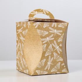 "{{photo.Alt || photo.Description || 'Коробка для кулича ""Стрекозы и бабочки"" диаметр 12,4 см'}}"