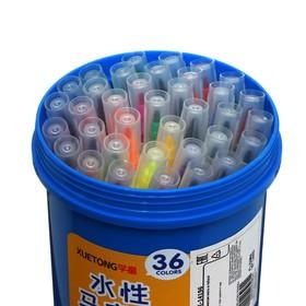 Фломастеры 36 цветов мягкая кисть в тубусе - фото 7440598