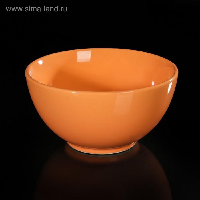 Салатник d=13 см, цвет оранжевый