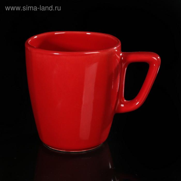 Кружка квадратная 250 мл, цвет красный