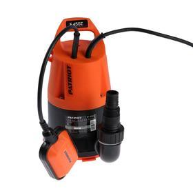 Насос дренажный PATRIOT F 450Z, для чистой воды, 450 Вт, напор 5 м, 133 л/мин, кабель 7 м