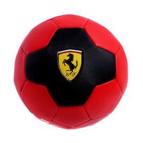 Мяч футбольный FERRARI р.5, PVC, цвет красный/черный