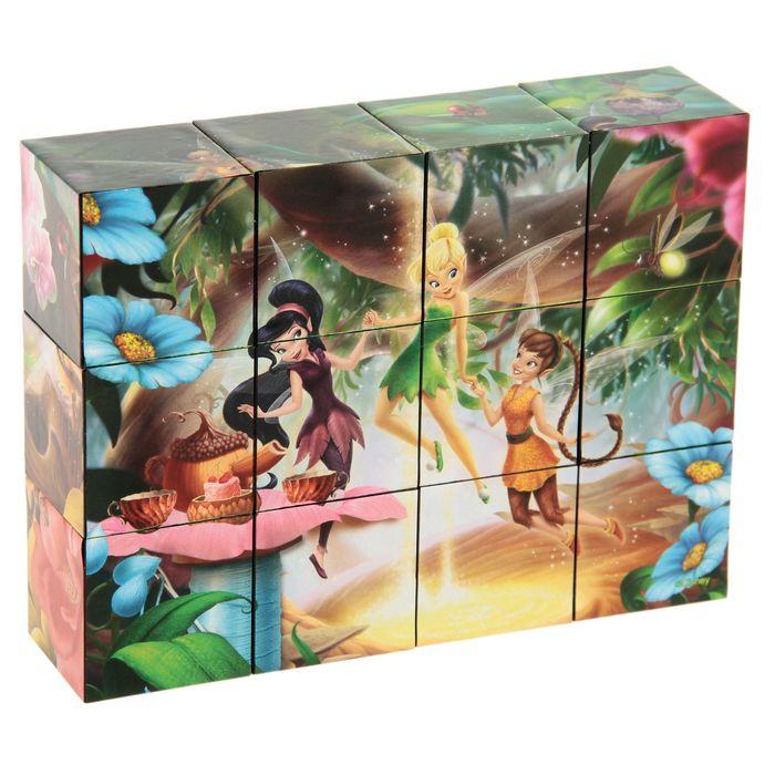 "Кубики ""Феи Disney"", 12 штук"