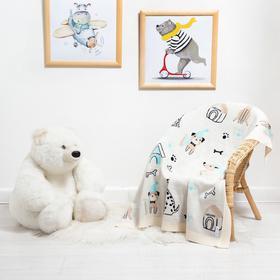 Вязаный плед «Крошка Я» Happy dogs, 90х90 см