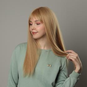 Парик искусственный, с чёлкой, имитация кожи, 60 см, цвет блонд