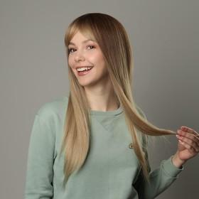 Парик искусственный, с чёлкой, имитация кожи, 60 см, цвет русый/блонд