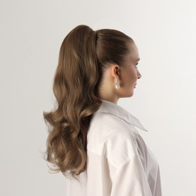 Хвост накладной, волнистый волос, на крабе, 40 см, 150 гр, цвет русый